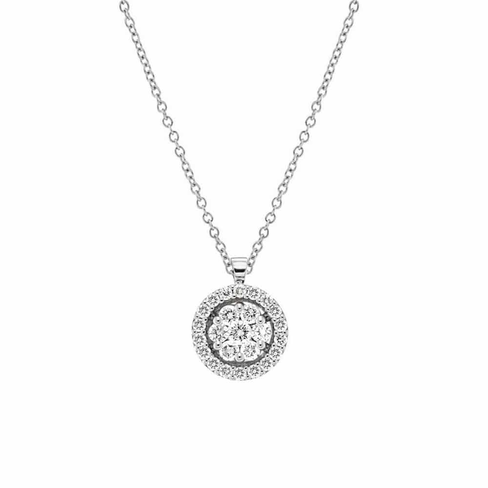 Flowers invisible setting diamond halo pendant in 18k white gold flowers invisible setting diamond halo pendant in 18k white gold ci1605 orsini aloadofball Gallery